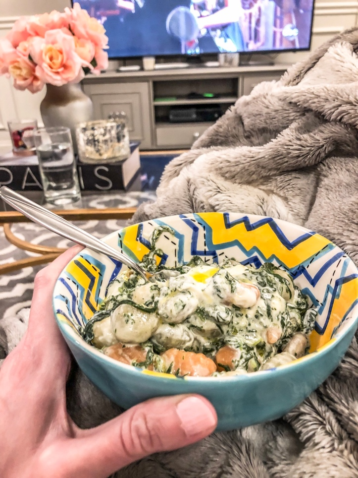 spinach and goat cheese potato gnocchi